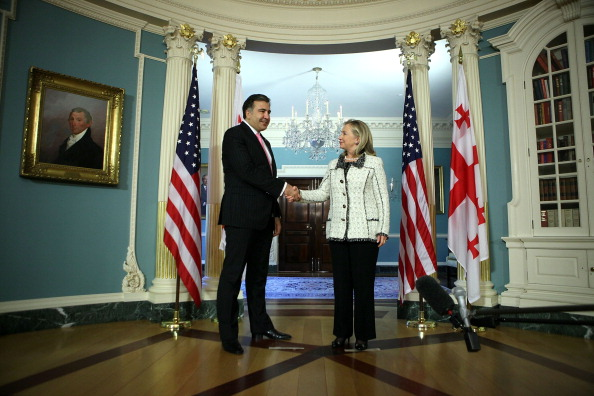 Georgia - US State「Secretary Clinton Meets With Georgian President Mikheil Saakashvili」:写真・画像(16)[壁紙.com]