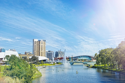 City Street「Adelaide city centre and River Torrens」:スマホ壁紙(5)
