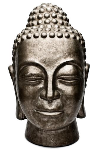 Buddha statue「Large ornate Buddha head sculpture」:スマホ壁紙(2)