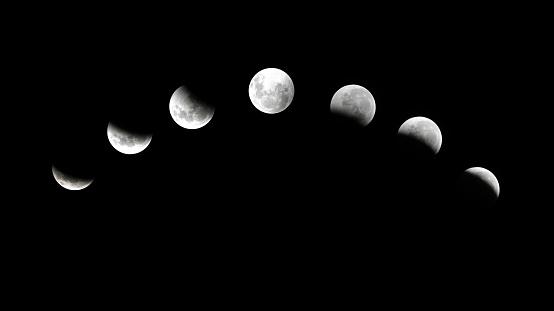 月「7 フェーズ月食」:スマホ壁紙(2)