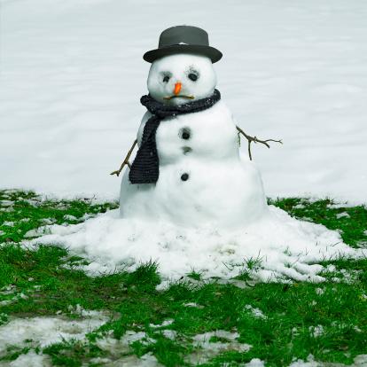 雪だるま「Melting Snowman」:スマホ壁紙(8)