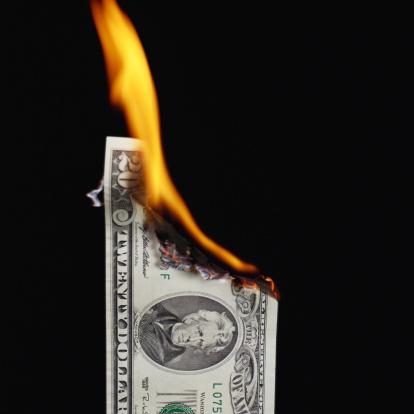 Money to Burn「Burning Twenty Dollar Bill」:スマホ壁紙(9)
