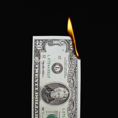 Money to Burn「Burning Twenty Dollar Bill」:スマホ壁紙(18)