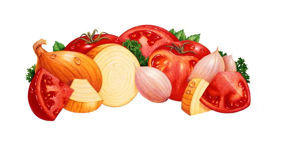 Garlic Clove「Garlic, Onion and Tomato」:スマホ壁紙(17)