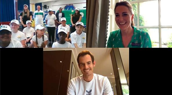 テニス選手 アンディ・マレー「The Duchess Of Cambridge And Andy Murray Speak To Young Tennis Fans From Bond Primary School」:写真・画像(3)[壁紙.com]