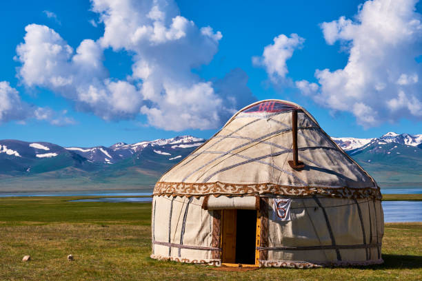 Kyrgyzstan, Song Kul, nomad's camp:スマホ壁紙(壁紙.com)