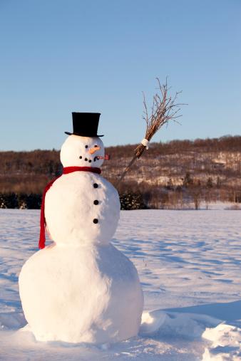 雪だるま「笑顔のスノーマン」:スマホ壁紙(15)