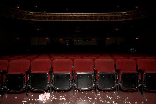 Part of a Series「Theatre auditorium with popcorn on floor」:スマホ壁紙(4)