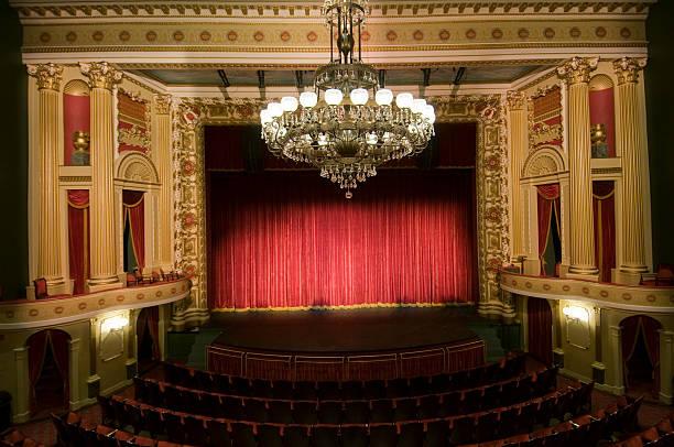 Theatre auditorium with stage:スマホ壁紙(壁紙.com)