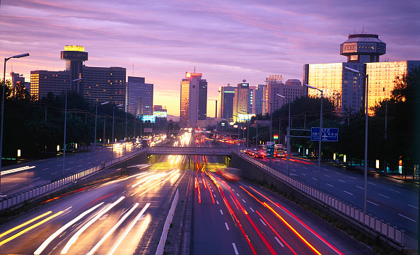 Long Exposure「Dusk night view at the third ring road of Beijing, China」:写真・画像(7)[壁紙.com]