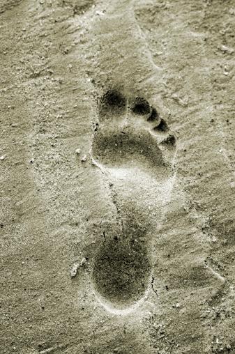 Sepia Toned「Footprint」:スマホ壁紙(15)