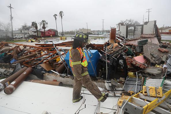 Damaged「Hurricane Harvey Slams Into Texas Gulf Coast」:写真・画像(0)[壁紙.com]