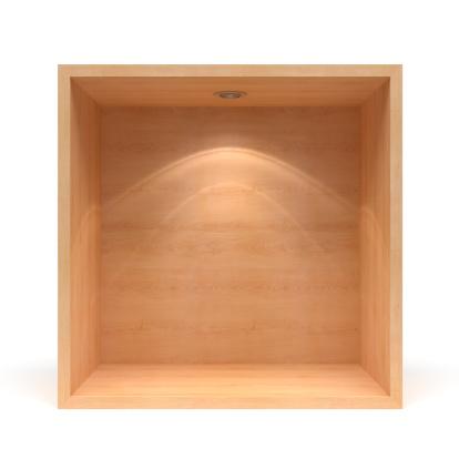 Box - Container「3d empty  wooden shelf」:スマホ壁紙(15)
