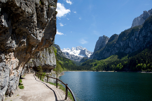 Dachstein Mountains「Austria, Upper Austria, Lake Vorderer Gosausee with Dachstein Mountains」:スマホ壁紙(7)