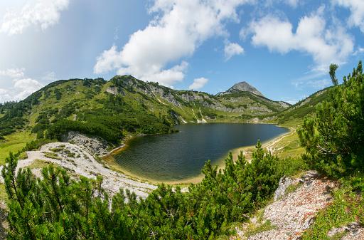 European Alps「Austria, Upper Austria, Salzkammergut, Totes Gebirge, Wildensee, Rinnerkogel」:スマホ壁紙(17)