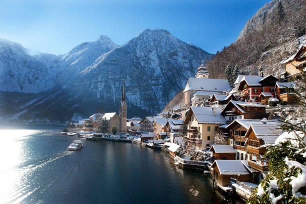 Austria, Upper Austria, Salzkammergut, Hallstatt, Lake Hallstatt:スマホ壁紙(壁紙.com)