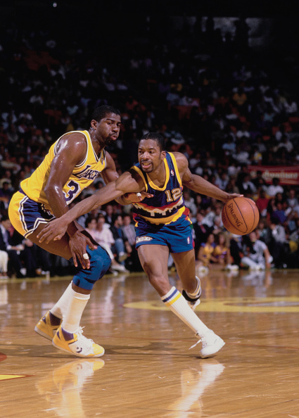 Magic Johnson「Denver Nuggets  vs Los Angeles Lakers」:写真・画像(9)[壁紙.com]