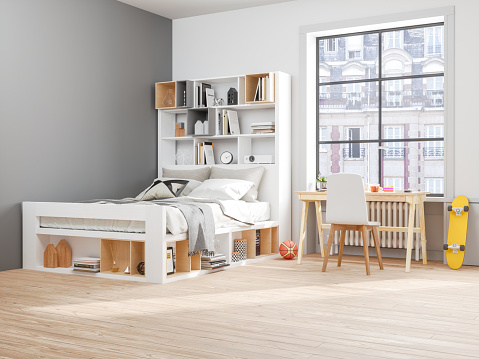 Bed - Furniture「Teenager room」:スマホ壁紙(3)