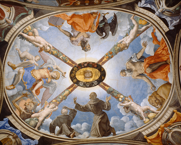 Ceiling「Ceiling Painting Of The Chapel Of Eleonor Of Toledo In The Palazzo Vecchio」:写真・画像(4)[壁紙.com]