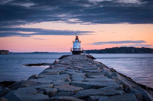 Lighthouse「Dawn At Spring Point Ledge Lighthouse」:スマホ壁紙(16)