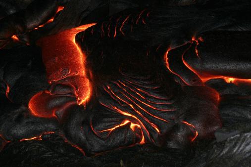 Erupting「hawaii - pahoehoe lava at night」:スマホ壁紙(0)