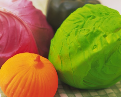 Red Cabbage「Clay Craft, Vegetables, Close Up, Differential Focus」:スマホ壁紙(16)