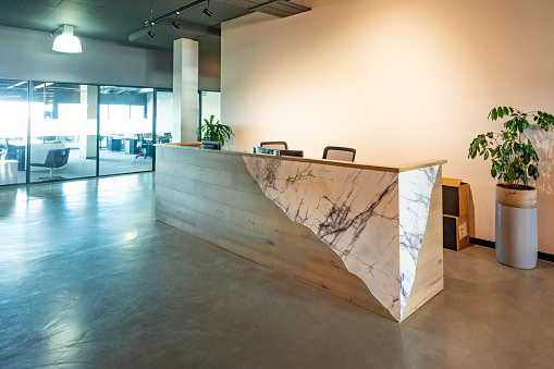 Corporate Business「Reception Lobby Area in a Modern Corporate Business Office」:スマホ壁紙(13)