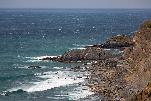 波「Praia de Arrifana in the Algarve」:スマホ壁紙(17)