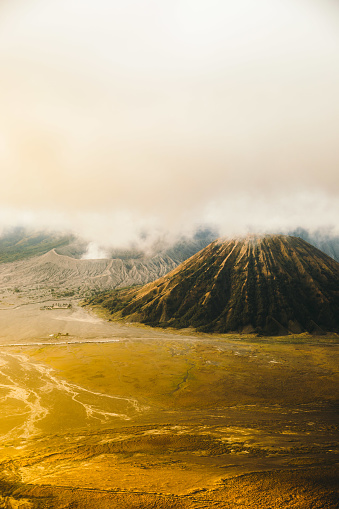 Active Volcano「Dramatic view of scenic sunrise above beautiful volcanic land at Bromo area in Indonesia」:スマホ壁紙(8)