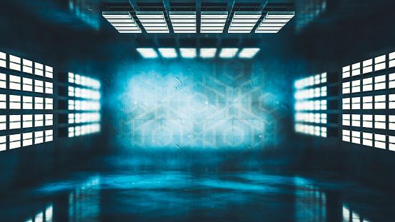 Backdrop - Artificial Scene「Dark studio background with lights」:スマホ壁紙(19)