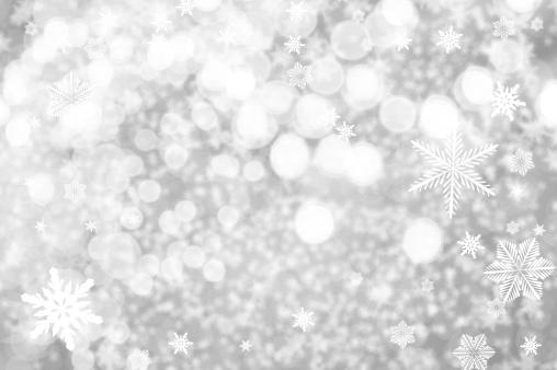 雪の結晶「ホワイト parkles」:スマホ壁紙(4)