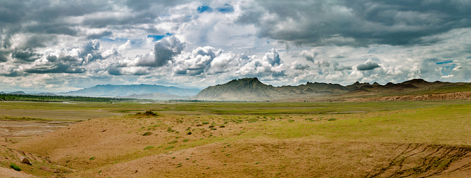 Steep「North-western part of Mongolia. Panoramic view of the steppe and hills.」:スマホ壁紙(5)