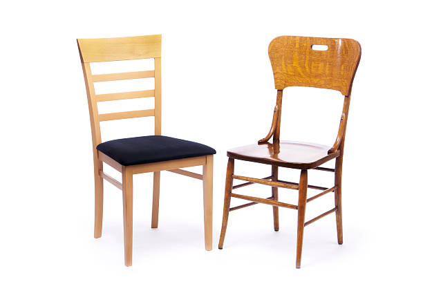 Two Chairs, New and Old, Sitting Next to Each Other:スマホ壁紙(壁紙.com)