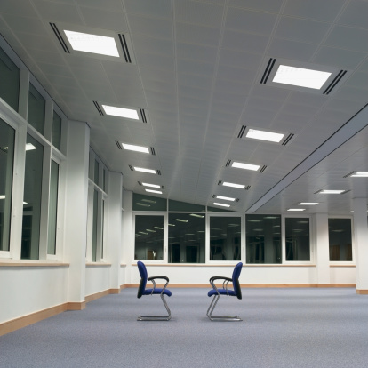 Two Objects「Two chairs in empty office」:スマホ壁紙(12)
