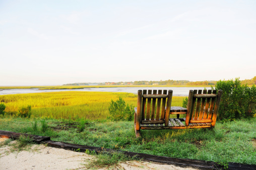 Two Objects「Two Chairs Overlooking Amelia Island Florida River Marsh at Dawn」:スマホ壁紙(7)