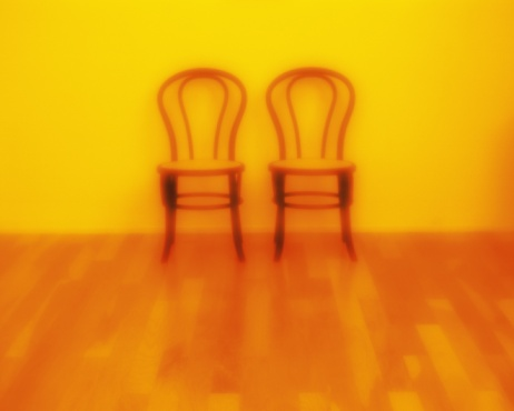 Flooring「Two chairs on the floor, High Angle View, Soft Focus, Toned Image」:スマホ壁紙(18)