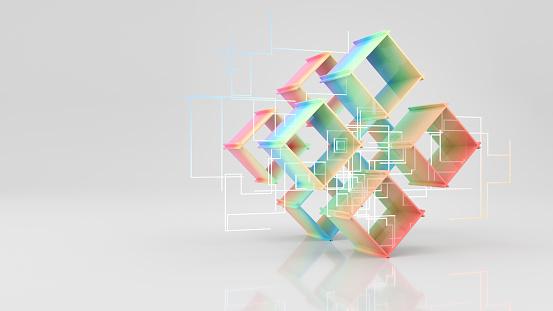 Rectangle「Colorful cubes」:スマホ壁紙(4)