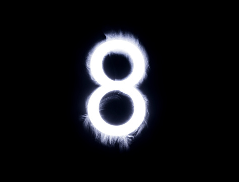 数字の8「Alphabet black background」:スマホ壁紙(4)