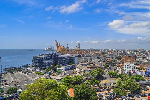 Sri Lanka「View at Colombo port and city.」:スマホ壁紙(10)