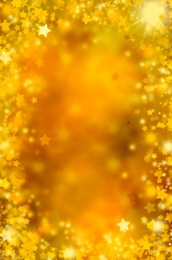 Focus On Background「golden stars」:スマホ壁紙(1)