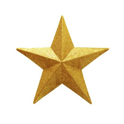 Design Element「Golden Star isolated on white background」:スマホ壁紙(1)