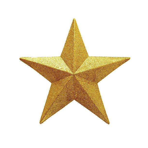 Golden Star isolated on white background:スマホ壁紙(壁紙.com)