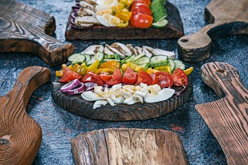 Veggie Burger「Cobb salad with fresh veggies」:スマホ壁紙(11)