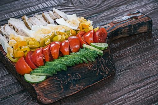 Veggie Burger「Cobb salad with fresh veggies」:スマホ壁紙(10)