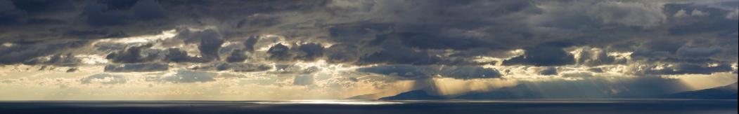Thunderstorm「Panoramic XXXL sunset over ocean, with dramatic sky and rain」:スマホ壁紙(17)