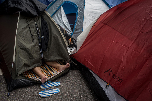 Chris McGrath「Protestors Dig Their Heels In As Occupy Movement Goes On」:写真・画像(5)[壁紙.com]
