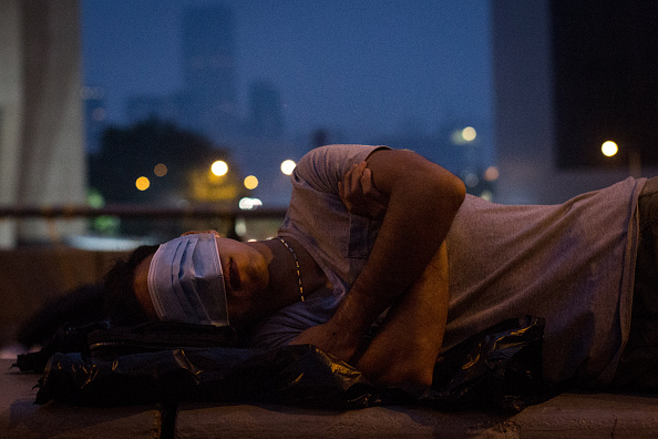 Sleeping「Protestors Take A Rest As The Pro Democracy Sit-In Goes On」:写真・画像(0)[壁紙.com]