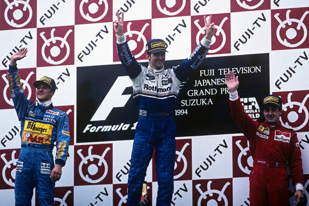 Japanese Formula One Grand Prix「Damon Hill, Michael Schumacher, Jean Alesi, Grand Prix Of Japan」:写真・画像(9)[壁紙.com]