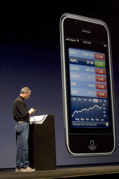 Public Speaker「Steve Jobs Unveils Apple iPhone At MacWorld Expo」:写真・画像(8)[壁紙.com]