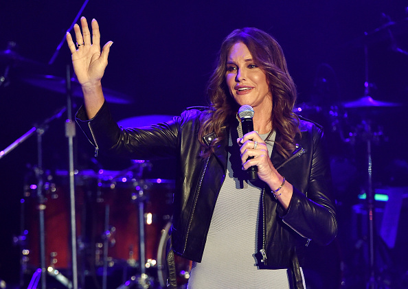 Leather Jacket「Caitlyn Jenner Attends Culture Club Performance At The Greek Theatre」:写真・画像(9)[壁紙.com]